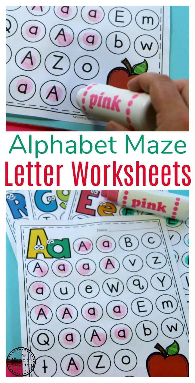 Letter Worksheets - Planning Playtime