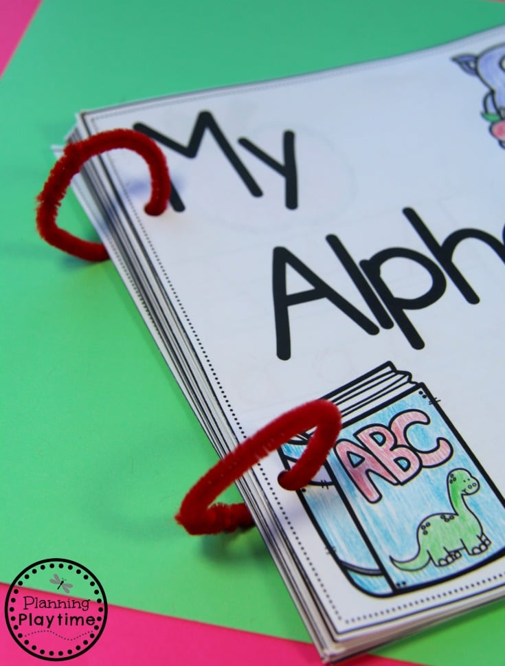 Pipe Cleaner Rings for DIY Alphabet Books for Kids.