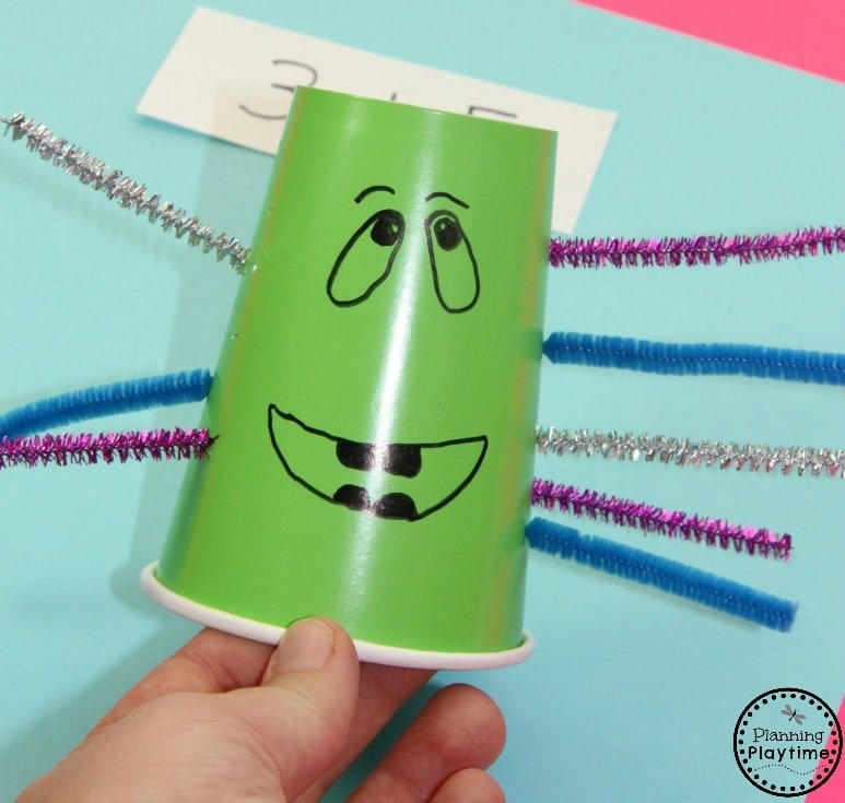 Addition Monster - Addition for Kids Tool and Activity. Switch the arms to count and add.