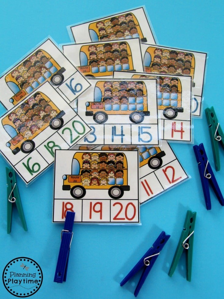 Back to School Counting Activities for Kids.