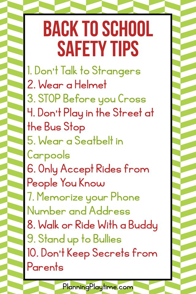 Safety Tips Every Kid Should Know Planning Playtime