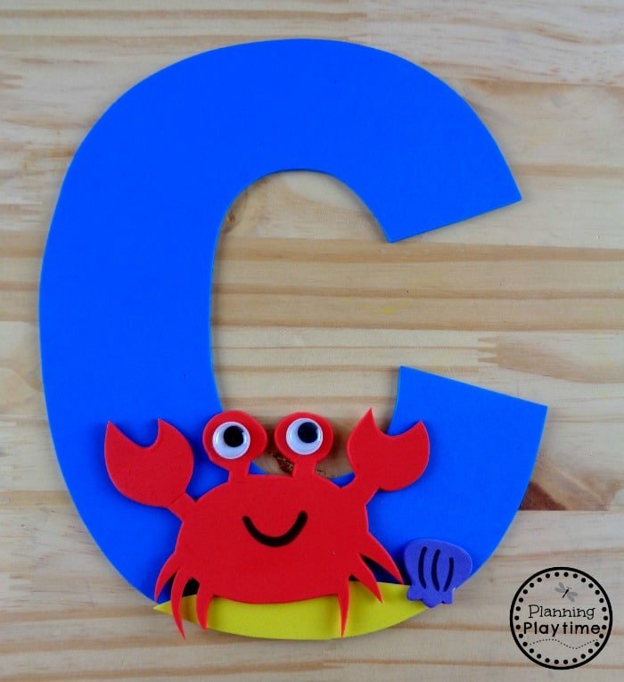 Letter C Craft for Kids - C is for Crab