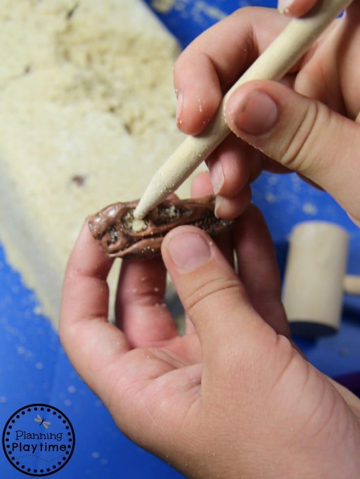Fun DIY Dinosaur Dig Recipe for Kids. Super fun Science activity.