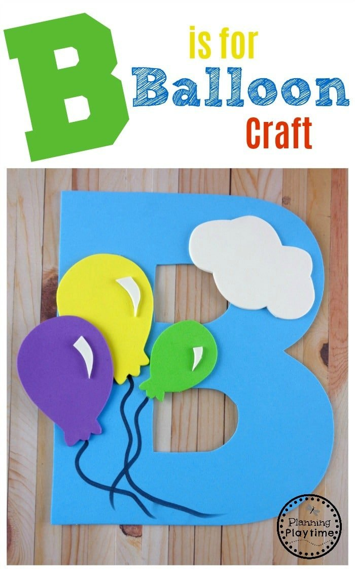 Letter B Craft with FREE printable template. Perfect for preschool or kindergarten.