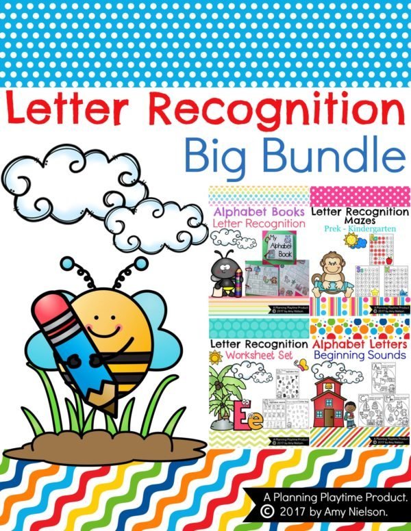 Letter Recognition Bundle of awesome activities