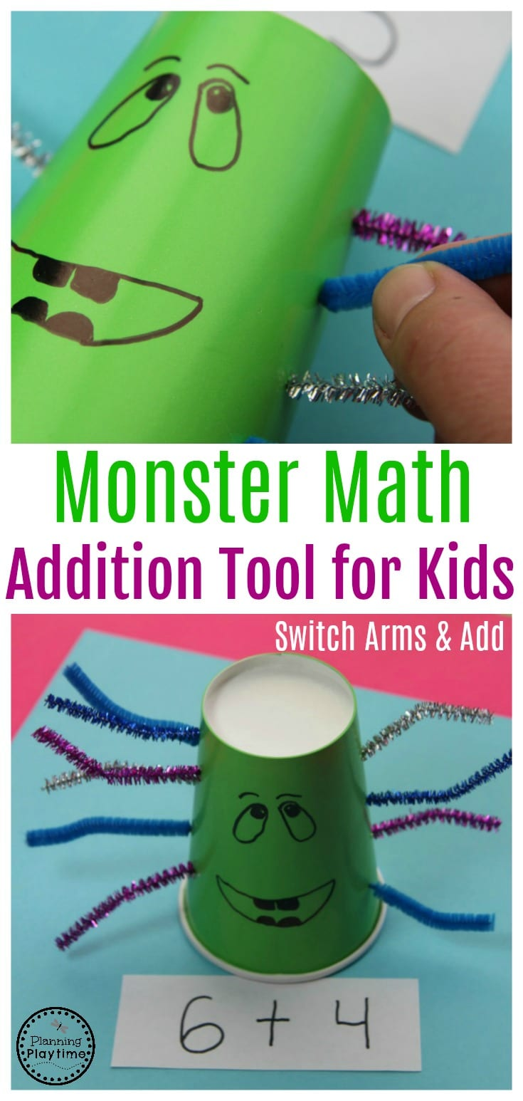 Monster Math Additino for Kids Tool and Activity.