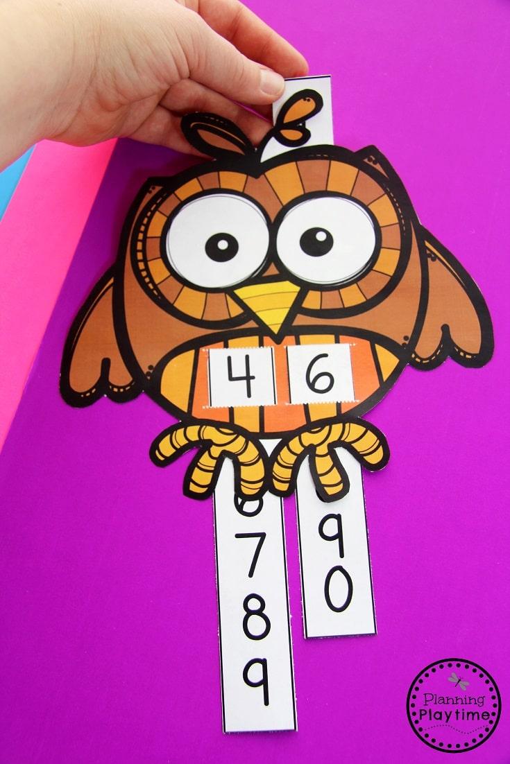 Count to 100 Activity for Kindergarten.