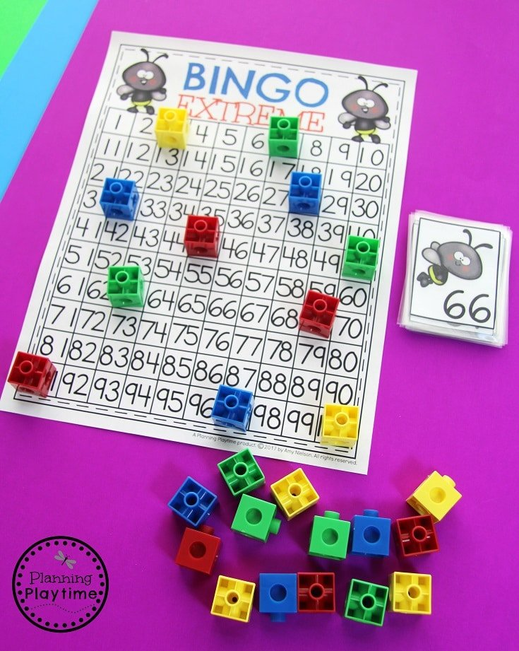 Count to 100 worksheets for kids - Extreme Bingo