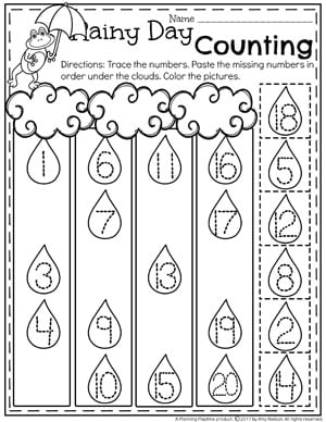 Kindergarten Counting 1 20 Worksheet For Kids