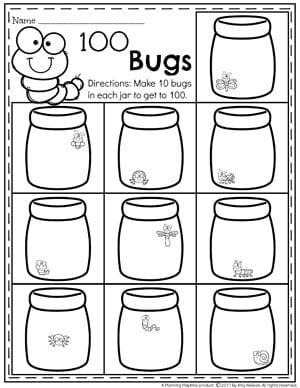 counting to  activities  planning playtime counting to  worksheets for kindergarten  bookworms  books counting  to  worksheets for kids  make  bugs