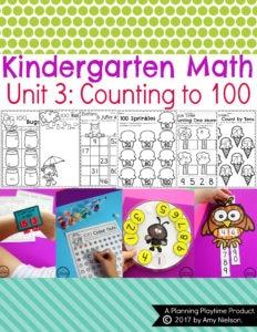 Kindergarten Counting to 100 Activities