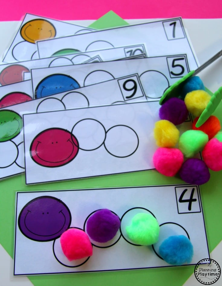 Cute Kindergarten Counting Activity - Build a Caterpillar Counting.