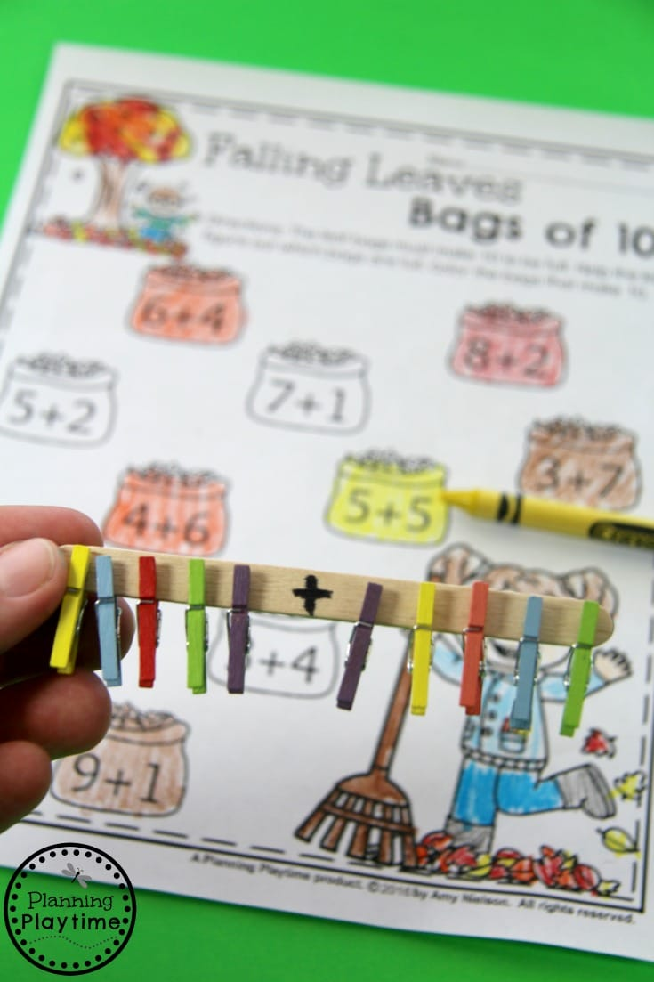 FREE fun addition worksheet for Kindergarten or 1st Grade.