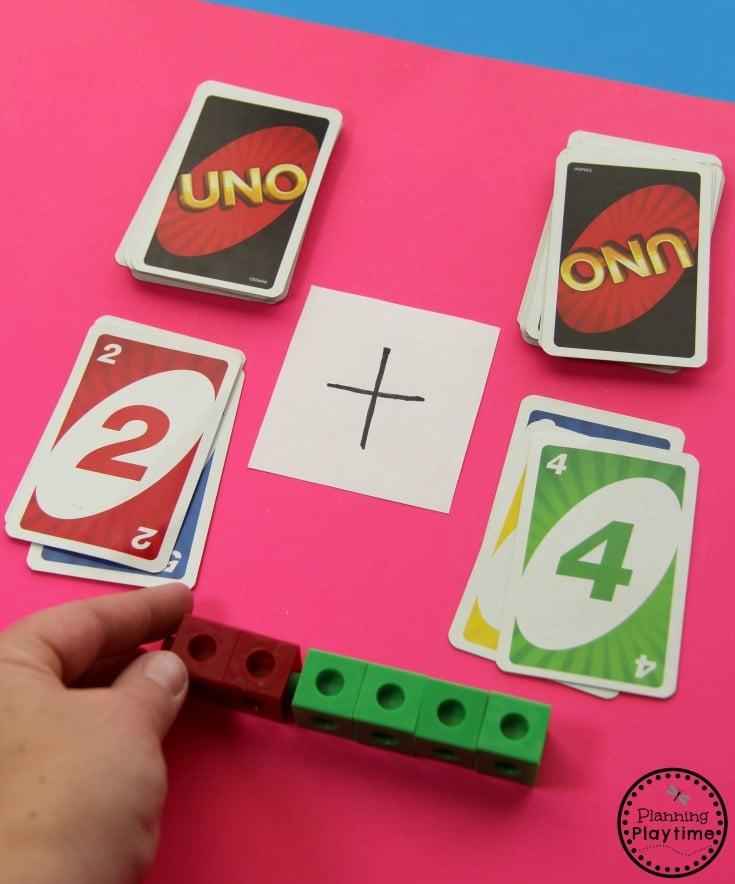 Fun Addition Game for Kids. Great kindergarten math center idea.