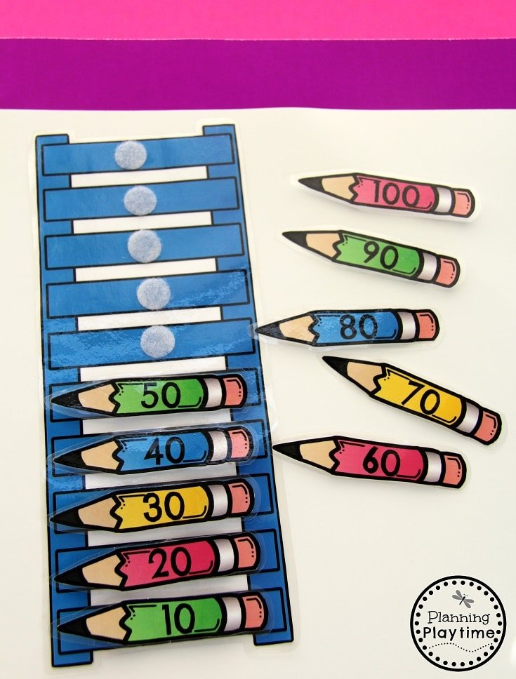 Fun Count by 10s activity for kids.