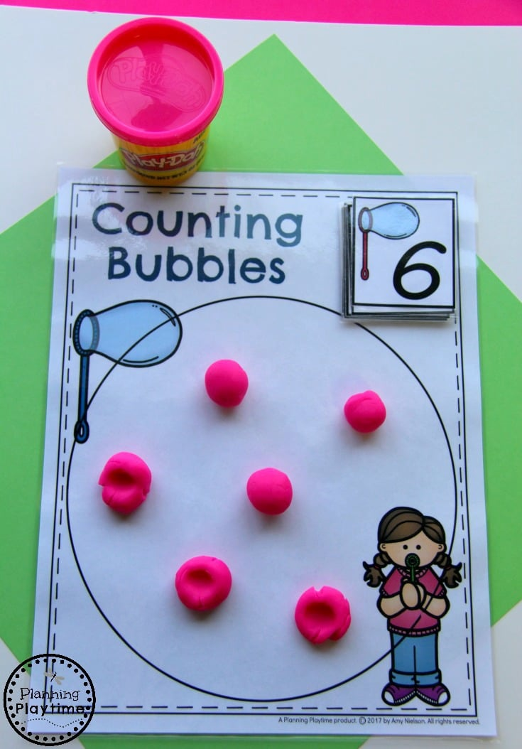 Fun Counting Activity for Kindergarten - Count and Pop Bubbles