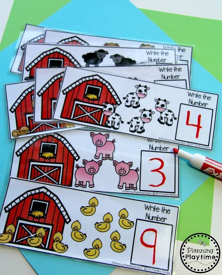 Fun Counting Activity for Kindergarten - Farm Animal Counting