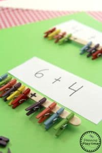 Fun Fine Motor Addition Activity for Kids