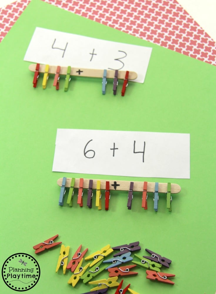 Great Fine Motor Addition Activity for Kindergarten.