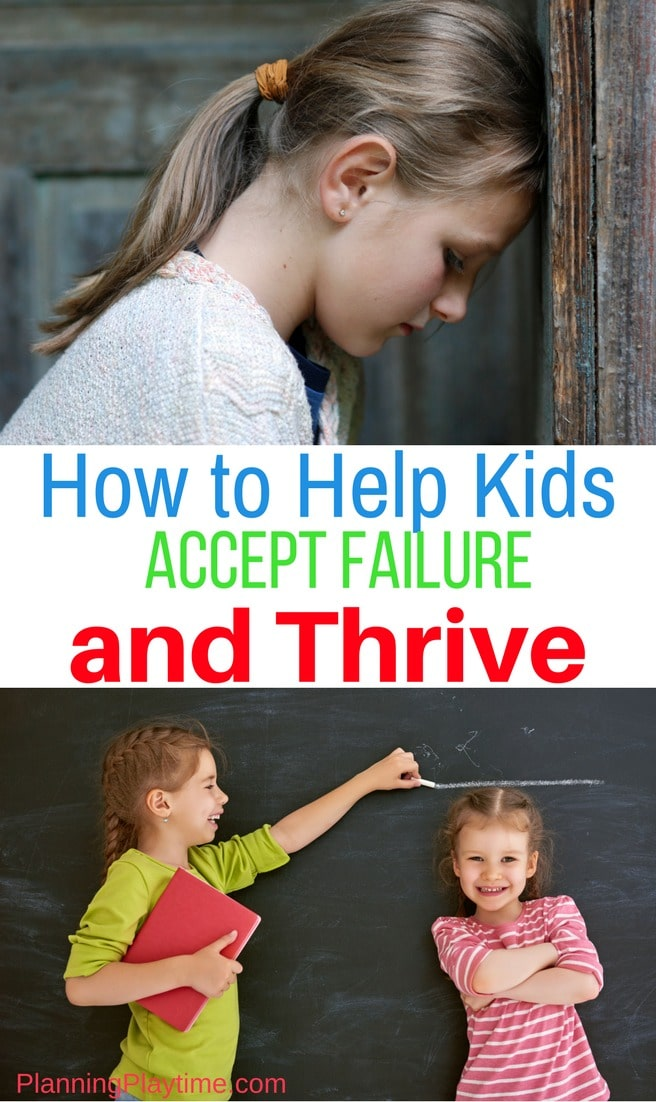 How to help kids learn and grow from failure.
