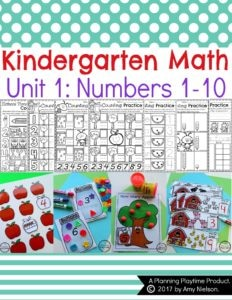 Kindergarten Number Worksheets and Math Centers. So fun!