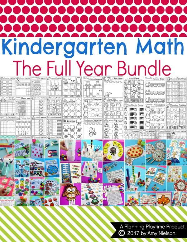 Kindergarten Math Worksheets and Games for the full year