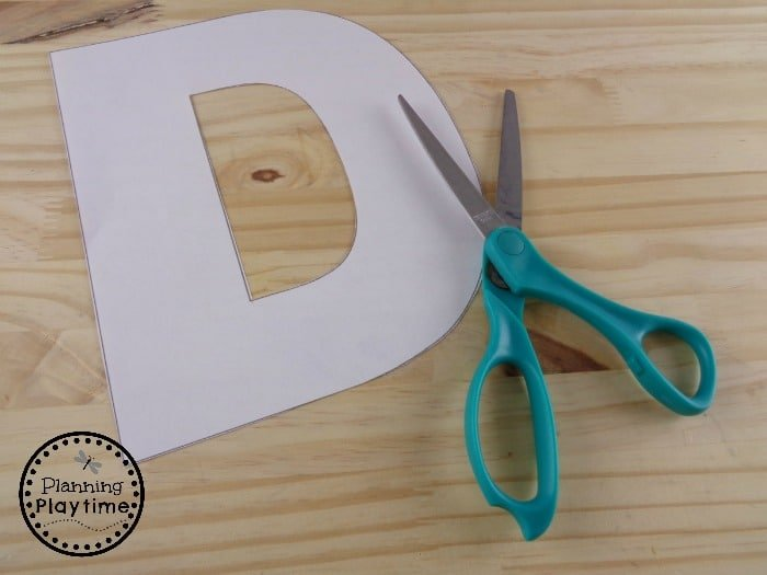 Letter D for Kid's Alphabet Craft