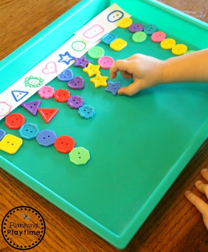 Buttons Color Sorting Activity for Kids.