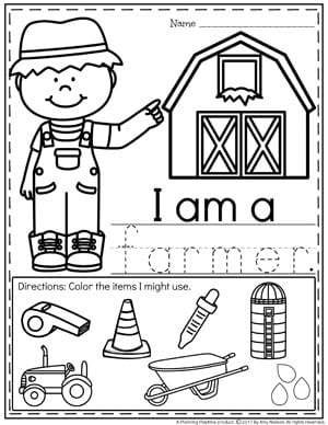 Community Helpers Worksheets - Farmer