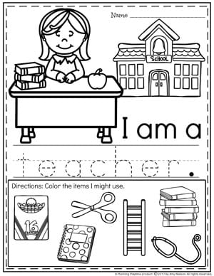 graphic regarding Memory Community Helpers Free to Printable Coloring Pages known as Local Helpers Preschool Concept - Building Playtime