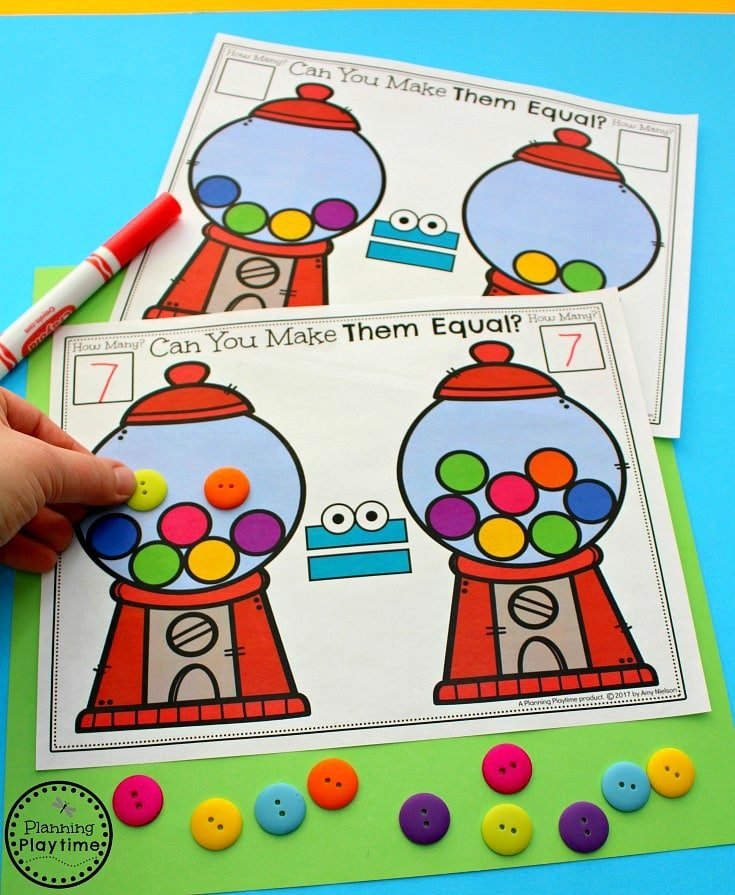 Comparing Numbers Activity for kids - Make them Equal.