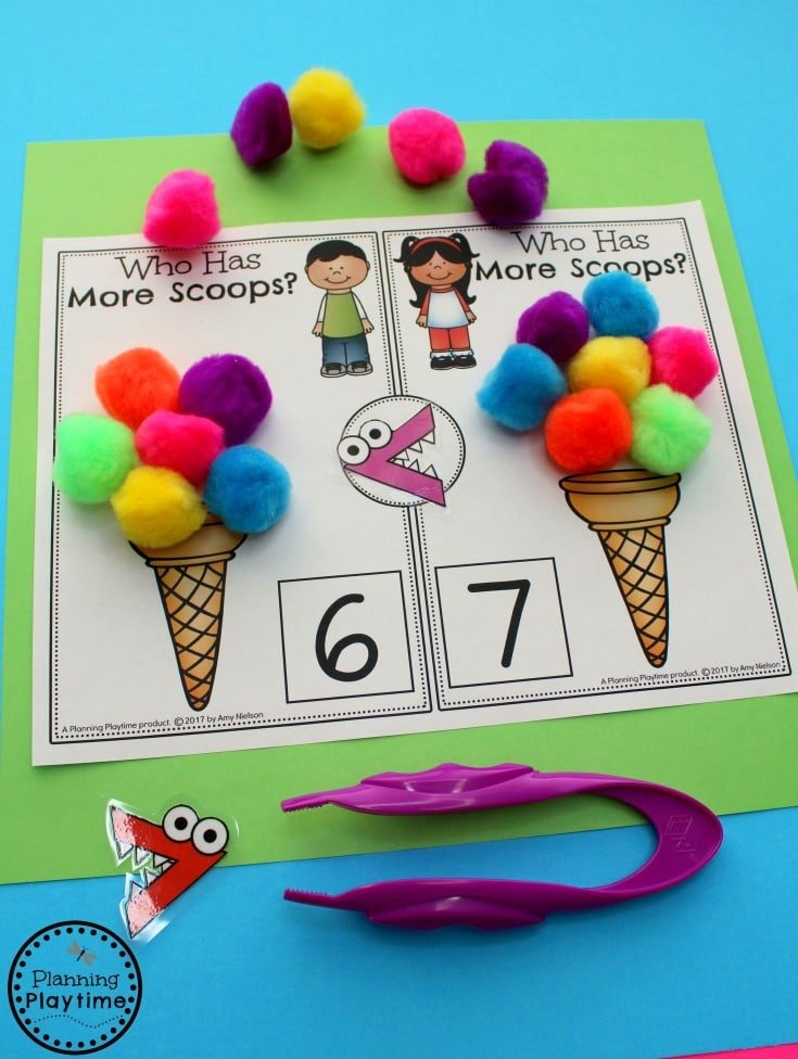 Comparing Numbers Math Activity for Kids.