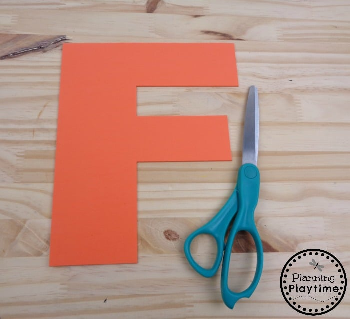 Creative Alphabet Craft for Letter F