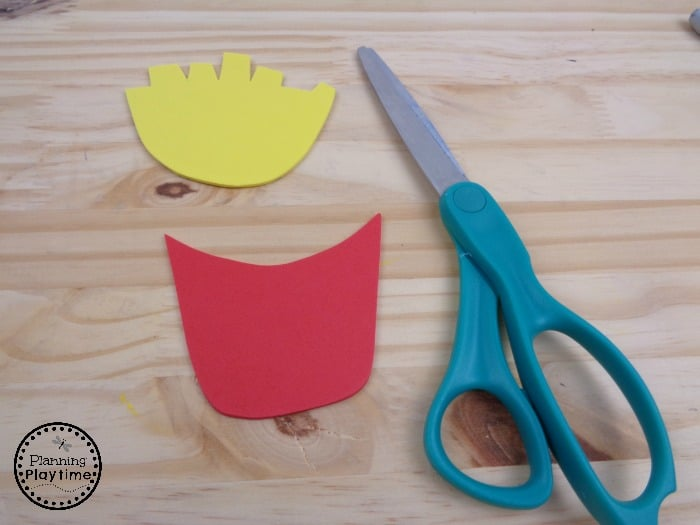 Creative F is for Fries Craft