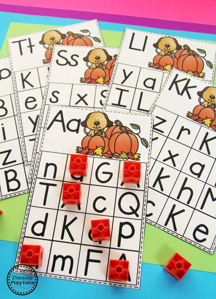 Fun Letter Find activity for Fall.