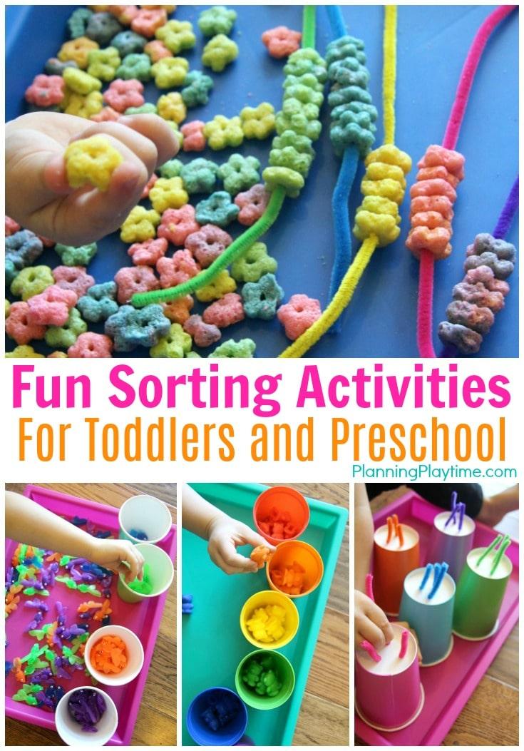 Fun Preschool Sorting Activities