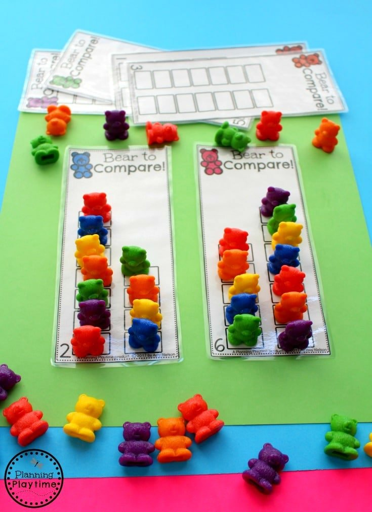 Fun comparing number activity for kindergarten