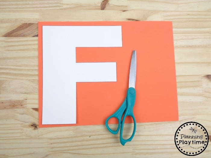 Kid's Craft for Letter F