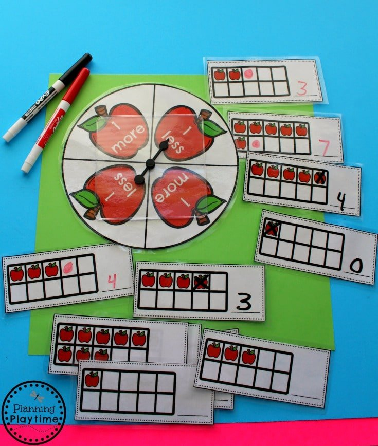 One More One Less Activities for Kindergarten