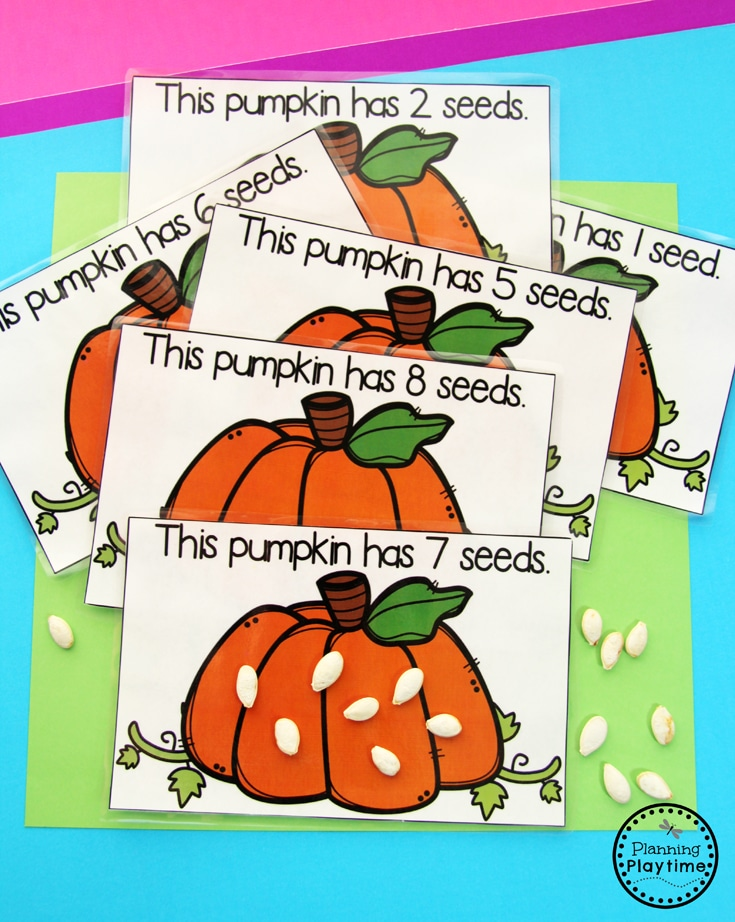 Pumpkin Counting Activities for Preschool or Kindergarten
