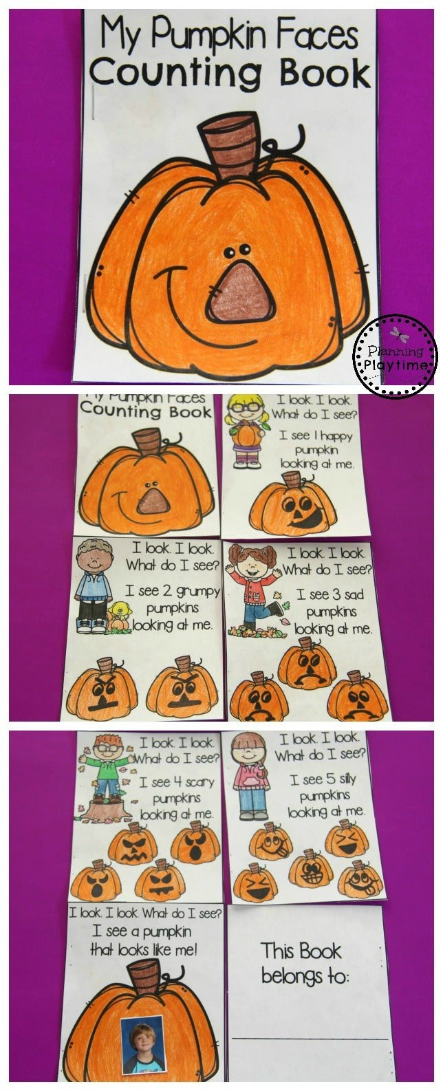 Pumpkin Preschool Activities - My Pumpkin Faces Counting Book.