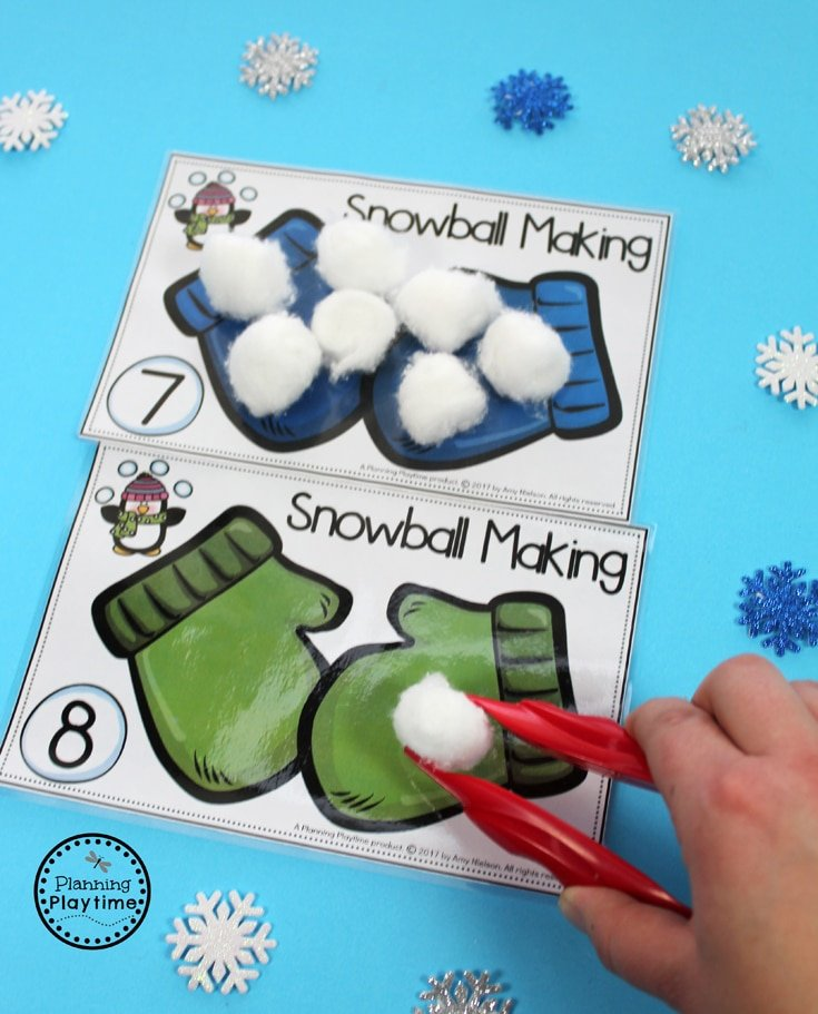 Awesome Snowball Counting Activity for Winter.