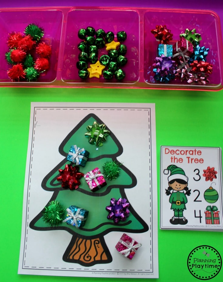 Christmas Theme for Preschool - Count and Decorate the Tree.