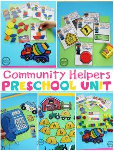 Community Helpers Theme for Preschool #communityhelpers #preschooltheme #planningplaytime