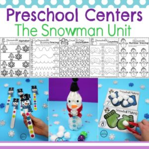 Snowman Activities and Crafts for Preschool