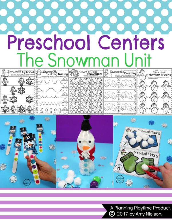 Snowman Activities and Crafts for Preschool