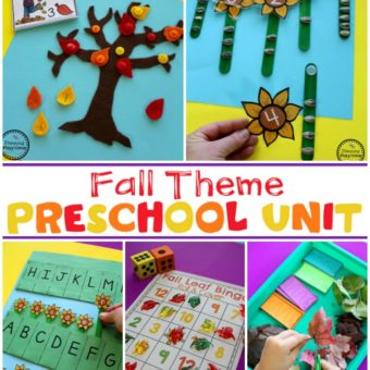 Fall Preschool Theme #preschool #preschoolworksheets #planningplaytime