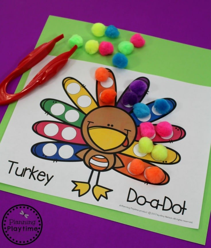 Fun Turkey Activities for Preschool - November and Thanksgiving Themed Unit