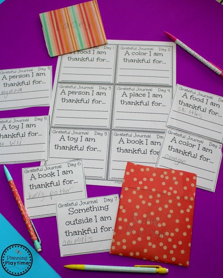 Gratitude Journal Writing Prompts for November.
