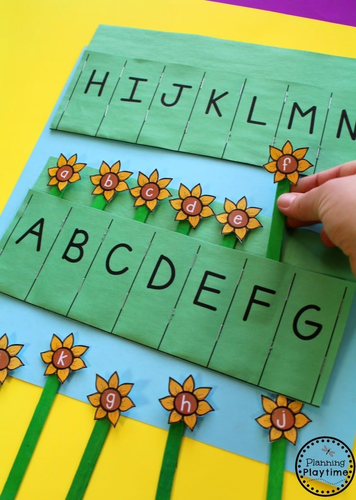 Preschool Letter Matching Activity for Fall.